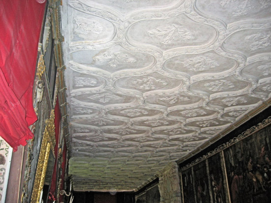Ceiling of the Cartoon Gallery, Knole, Kent.