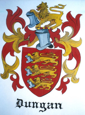 The coat-of-arms of the Dungan family